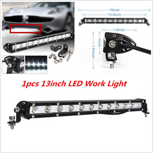 13 Inch 36W  LED Bar Spot / Flood Beam Single Row Work Light Bar Offroad Driving Lamp For SUV ATV Best Quality Brand New