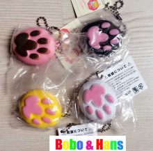 New Cute Bread colors claws style squishy charm / mobile phone strap / retail