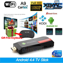MK809IV RK3188 Quad Core Mini PC Android 5.1 TV Box Wifi 2GB 16GB Bluetooth Google TV Player HDMI  MK809IV TV Stick + Keyboard
