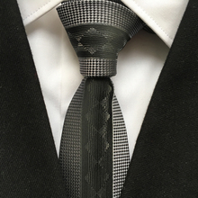 Designer's Skinny Tie Personality Panel Necktie Silver Diamond Plaids Striped Ties Free Shipping