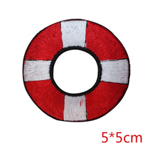 life preserver ring nautical iron-on patch embroidered applique