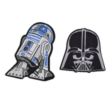 2Pcs Robot Embroidered Iron On Force Awakens Patch Classic Movie Star Wars Fabric Patches Children DIY Clothing Accessories(China)