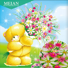 Meian,Special Shaped,Diamond Embroidery,Cartoon,Bear,5D,Diamond Painting,Cross Stitch,3D,Diamond Mosaic,Decoration,Christmas(China)