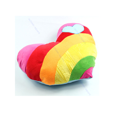Hot New Heart Pillow Lovely Soft Stuffed Plush Cushion Nap Rainbow Love Throw Good Gift 2 Style(China)