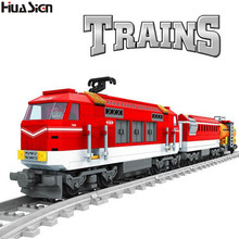 2017 Brand Compatible City Construction Railway Trains Model Building Bricks Kids Educational Train Track Blocks Toys