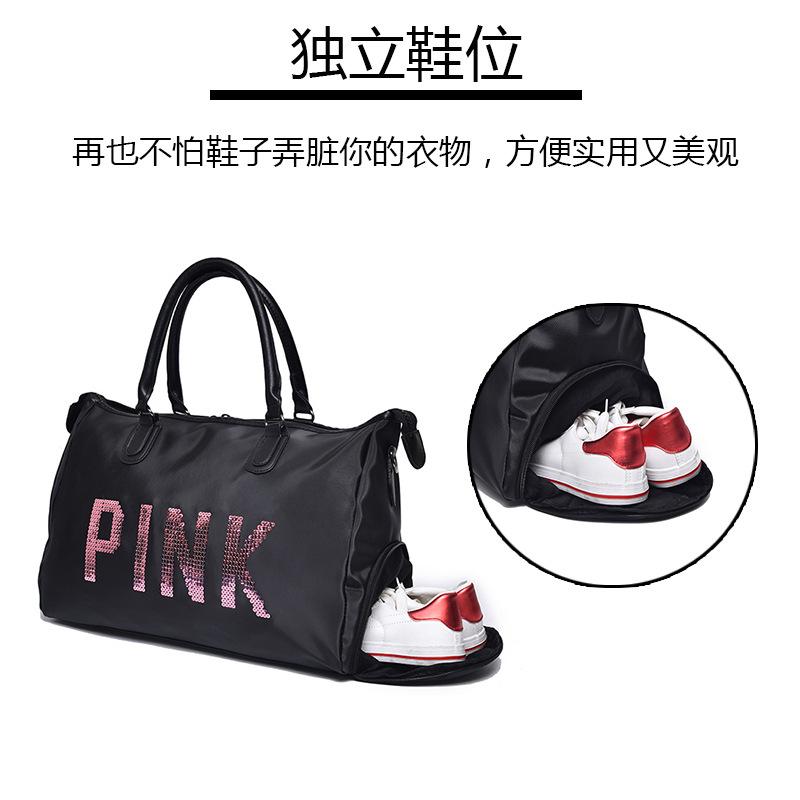 2018 Sequins Vs Love PINK Gym Fitness Sports Bag Shoulder Crossbody ... e15ea70412