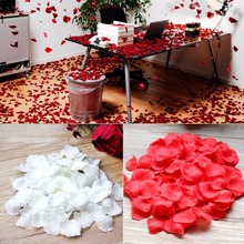 Silk Rose Petals Confetti Decoration Rose Decoration Wedding Flowers(China)