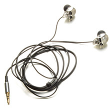 Silver Skull Heads 3.5mm Port Metal Headset Earphones For iPads iPod Phone MP3 P0.11(China)