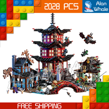2028pcs Bela 10427 Temple of Airjitzu Building Blocks Ninja Model Bricks Best Large Gifts Toys Compatible With lego(China)