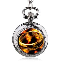 New Fashion Design The Lord of the Rings Quartz Pocket Watch Pendant Necklace Antique Jewelry Clock