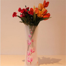 WEEDDIE Eco-friendly Foldable Folding Flower PVC Durable Vase Home Wedding Party Easy to Store 27 x 11.5cm(China)