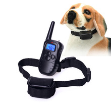 A6 100 Level LCD Rechargeable Shock Vibra Remote Collar Pet Dog Training Collar VE862 T0.41