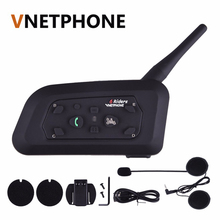 2017 Version V6 1200 Motorcycle helmet headset bluetooth headset Intercom BT interphone(China)