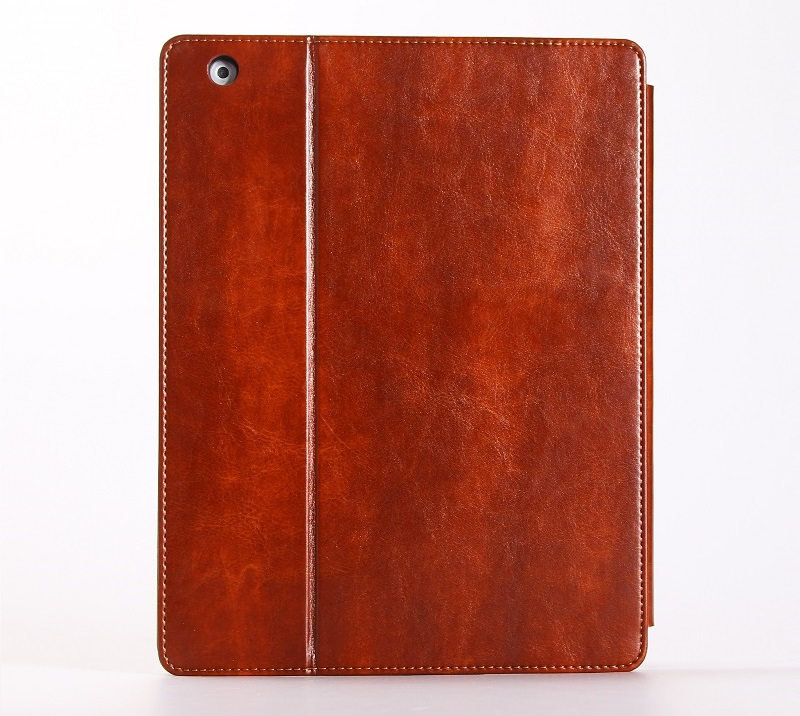 brown retro vintage leather smart cover case for ipad 2018 9.7 inch case
