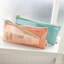 COCODE Small Mini Women Mesh Cosmetic Bag Toothbrush pencil lipstick Makeup Makeup Organizer Bag light Clutch Water V1595(China)