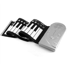 49 Keypad Portable Folding Piano Silicone Soft kids Beginner Practice Player Musical Instrument With Speaker Children's toys