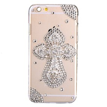 Bling Rhinestone Diamond Crystal Glitter Bling Case Cover Shell Phone Case for Iphone 5s i6 4.7 6Plus 5.5 Inch case(The cross )(China)
