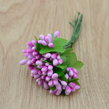 12 pcs/bundle plastic beads Artificial flowers  small berry wreath material DIY handmade corsage bride wedding flower decoration