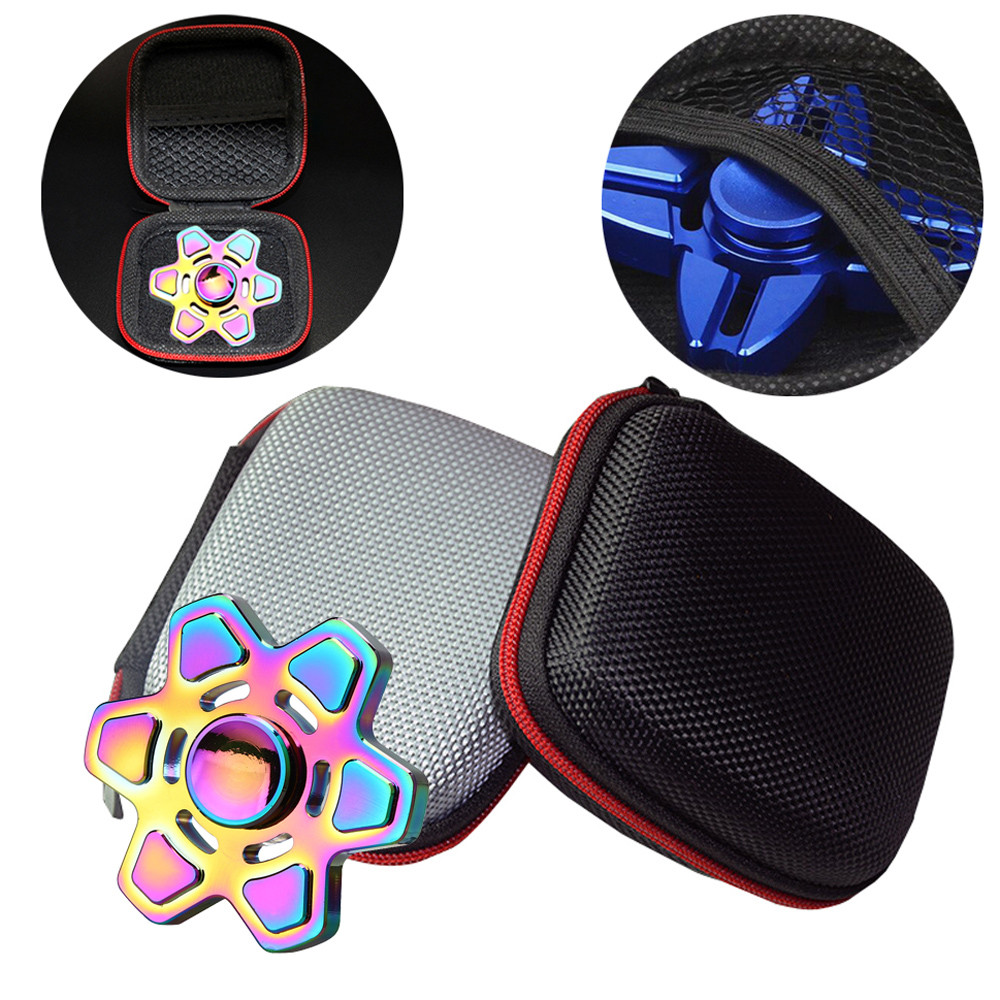 Bag of finger spinner Fidget Hand Spinner Triangle Finger Toy Focus ADHD Autism Bag Box Carry Case Packet only bag kids toy(China (Mainland))