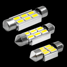 2pcs 31mm 36mm 39mm C5W C10W C3W 6 led 5630 smd Festoon CANBUS NO Error Car Licence Plate Light Auto Dome lamps Reading Lights
