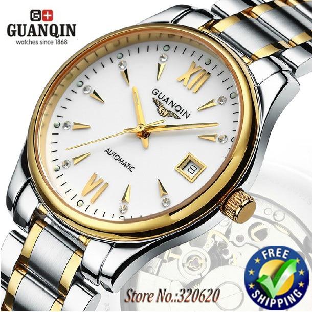 Original GUANQIN automatic watches men luxury brand sapphire Waterproof full steel wristwatches man-GQ80018<br><br>Aliexpress