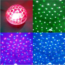 LED RGB Laser Stage Lighting Crystal Music Stage Effect Ceiling Light with Acoustic Control & Remote Control for DJ Pub Party