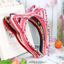 1pcs Fashion Hot Lady Coloful Cat Ear Headband Hair Accessories for Women and Girls Cat's Ear Hairband Hairstyles Women 2017