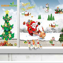 Christmas tree Santa Claus christmas wall sticker Living Bedroom room wall stickers home decor  christmas window sticker sticker
