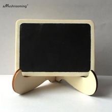 100x Natural Mini Rectangle Chalkboard Stand Easel Set for Christmas Wedding Party Table Number Place Card Holder Baby Shower