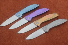 Neon ceramic ball bearing D2 titanium flipper folding Kitchen Fruit camp hunting outdoors survive Utility knife EDC tools