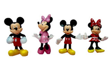 Price for 5 sets mickey & minnie figure, 4 pcs/set MICKEY Mouse figure, Minnie Mouse Cartoon figure toys, Children toys for kids