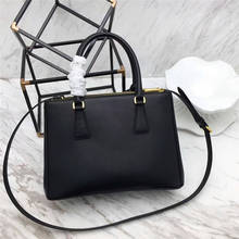Cow Luxury Brand Saffiano Genuine Leather Bags Handbags Female Black Crossbody Bags For Women 2017 Purses Lady Fashion Designer(China)
