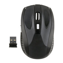 Plastic 100*65*35mm Black Wireless Optical Mouse(China)