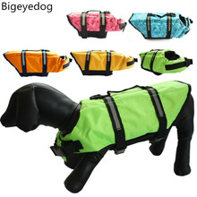 Bigeyedog Pet Dog Life Jacket Life Vest Poodle Pug French Bulldog Dog Clothes Swim Swimming Clothing for Dog Golden Retriever(China)
