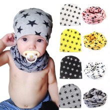 Winter Star Infant Baby Hat Autumn Crochet Girl Boy Cap Unisex Beanie Cotton Knitted Toddlers 2016 New Children Winter Hat(China)