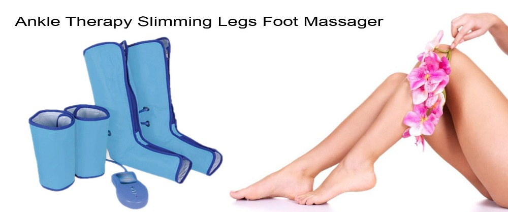 17 New Ankle Therapy Massage Slimming Legs Foot Massager Air Compression Leg Wrap Boot Socks Heating Sauna Belt Relax Vibrator 11