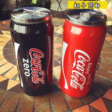400ml creative cups of coke cans of stainless steel vacuum thermos cup cartoon child belly cup student couple cups free shipping