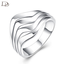 luxury brand white ring jewelry thumb ring knuckles weapon women ethnic engagement wedding ring silver color accessories INE084