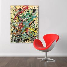 HDARTISAN Abstract Canvas Art Jackson Pollock Wall Pictures For Living Room Untitled Yellow Modern Painting Home Decor Printed