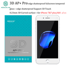 For iPhone 6&7 tempered glass Nillkin 3D AP+ Pro edge 0.23 mm shatterproof fullscreen film protector for iPhone 6 plus&7 plus