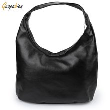 High Quality Women Shoulder Bags Black PU Leather Bags Solid Hobos Designer Handbags Ladies Messenger Bag For Women Bolso