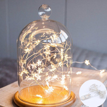 1/2/3m led star copper wire starry string light led fairy light christmas wedding party decor light garland battery operated