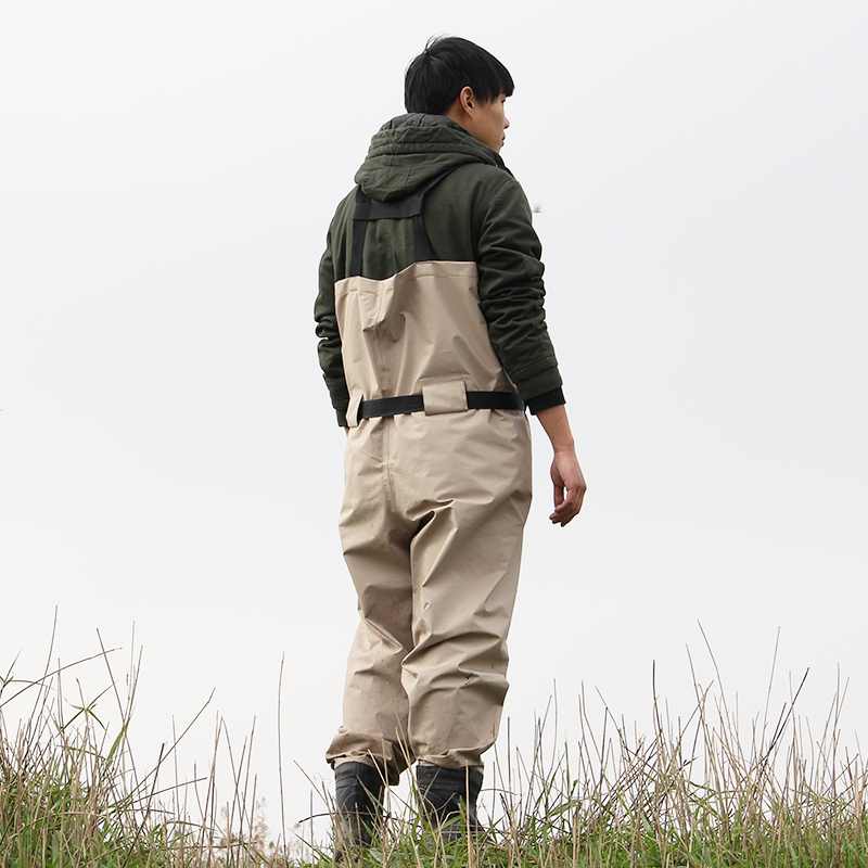 breathable fishing waders, high quality pesca waders trango chest waders with stocking foot (2)