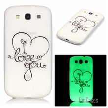 New Fashion Luminous night Slim phone Cases for Samsung Galaxy S3 SIII I9300 Fluorescence Soft TPU Silicon back cover skin