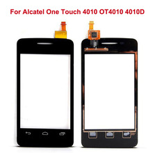 Black White Touch Screen Glass For Alcatel One Touch 4010 OT4010 4010D OT-4010 Touch Panel Digitizer Replacement(China)