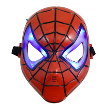 LED Glowing Superhero Halloween Mask Children's Cartoon Mask Spider-man Toy Glow With Lamp Spiderman Mask