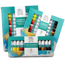 10ML 12colors/set WINSOR & NEWTON Acrylic Paints set Hand-painted wall painting textile paint colored Art Supplies AOA020-12(China)