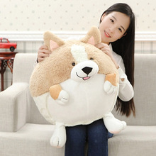 2017 Fat Dog Welsh Corgi Pet Toys Pillow Plush Cat Toys Soft Stuffed Plush Dolls Animal Puppy Dog Birthday Gifts C21