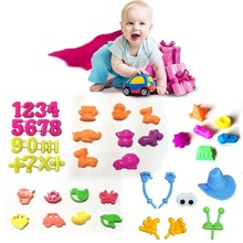 6/7/8/15/32 pcs/set Portable Castle Sand Clay Novelty Beach Toys Model Clay For Moving Magic Sand