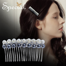 Special Fashion Shell Beads Hair Comb Romantic Hair Accessories Hairwear Rhinestones Jewelry Gifts for Women S1673H